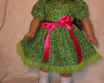 Green Floral Party Frock