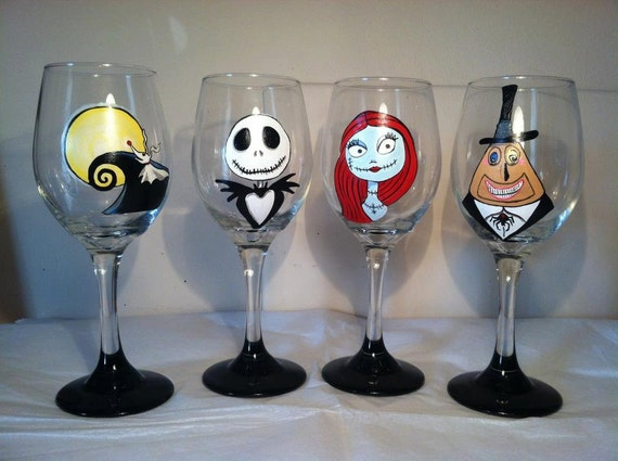 Items Similar To Nightmare Before Christmas Inspired Wine