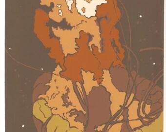 Natural Jellyfish Silkscreen Print - Wall Art