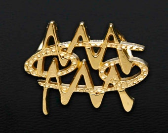 41 Cancer and Aquarius Gold Unity Pendant