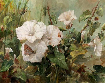 Super Giclée's of  Big flower paintings Bindweed