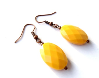 earrings curry yellow