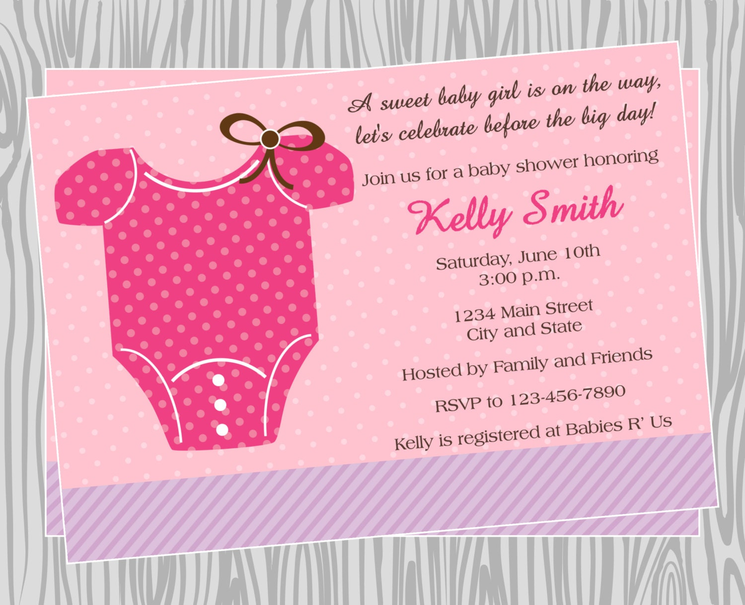 diy baby girl onesie baby shower invitation coordinating