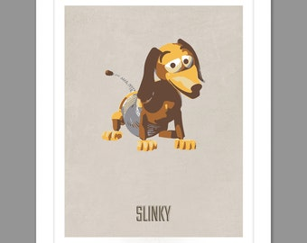Digital Download Toy Story Slinky Poster Art Nursery Art Print, Toy Story Nursery Art Boys Room - 8x10 or 11x14