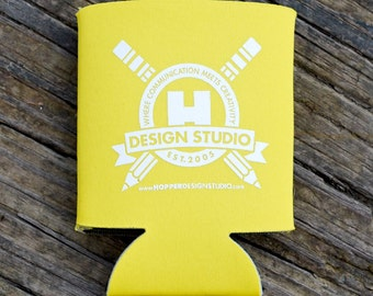 Logo Drink Coozie (Yellow)