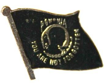 POW MIA You Are Not Forgotten Enamel Clothing Pin