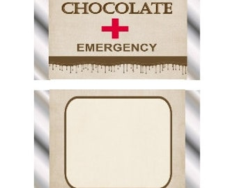 Chocolate Emergency Hershey Miniature Wrappers
