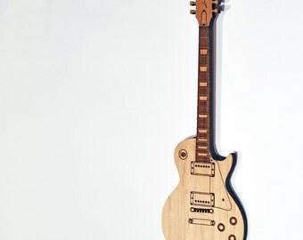 Personalized Wood Les Paul Guitar Ornament