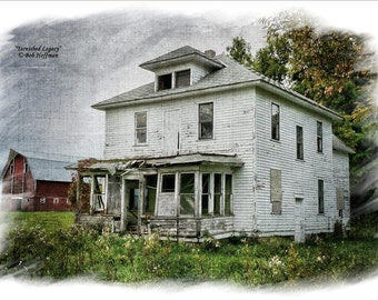 Tarnished Legacy- 8x12 Rustic Barnwood Framed