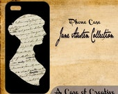 Jane Austen iPhone Case (Silhouette on Manuscript) - specify iPhone 4, 4S, or 5 when ordering
