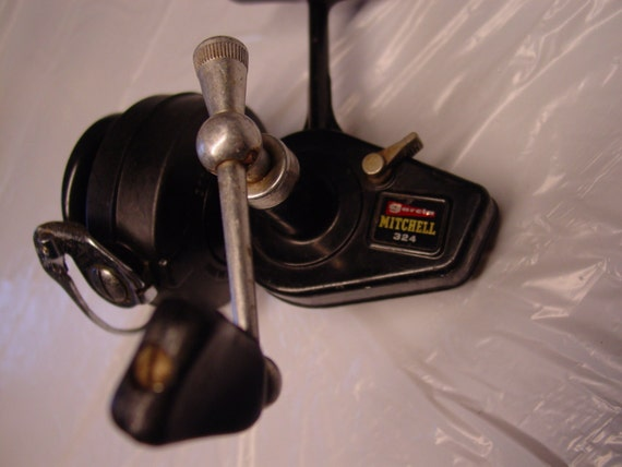 Vintage garcia mitchell 324 open face by porchesandpetunias for Open face fishing reel