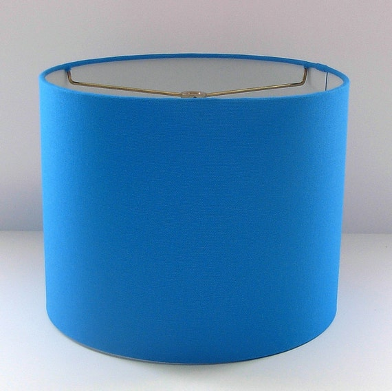 items similar to blue lampshade blue drum shade table lamp. Black Bedroom Furniture Sets. Home Design Ideas