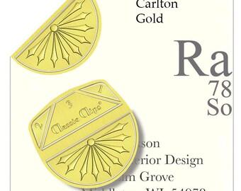 Gold Paper Clips ( Set 100 )