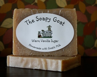 Goat's Milk Soap 3 oz. -- Warm Vanilla Sugar