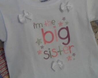 big sister   white Tshirt 3t