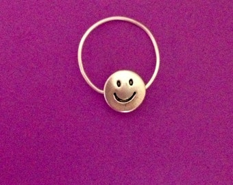 Silver/ Ring/ Smiley Face/ Adjustable