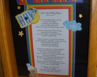 Personalized Baby Boy Poem frame