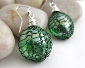 Emerald Green earrings, H...