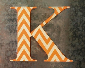 "Chevron Wood Letter - 8"" Tall - Font & Color of your Choice - Home Decor - Nursery"