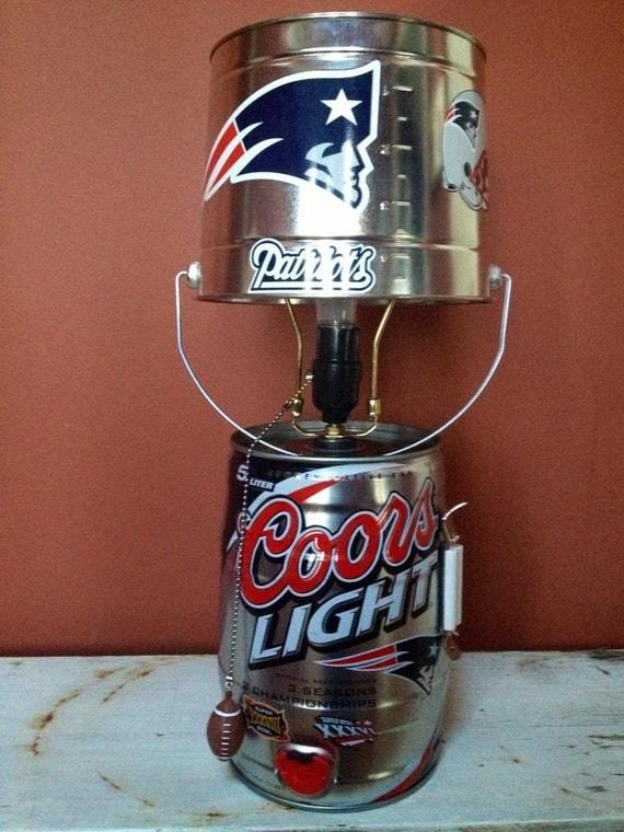 New England Patriots Coors Light Keg Lamp
