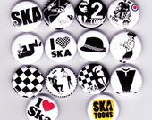 Items Similar To Ska Badges Set Of 14 Two Tone Mod