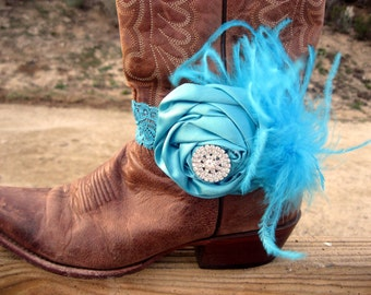Turquoise  Cowgirl Boot Bracelet