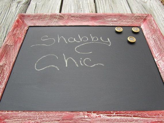 Shabby chic lavagna lavagna magnetica cornice rossa telaio - Lavagna magnetica cucina ...