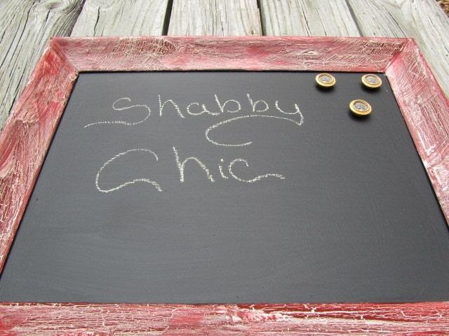 Shabby chic lavagna lavagna magnetica cornice rossa telaio - Lavagna magnetica da cucina ...