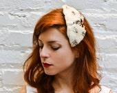Wedding Headpiece -No. 2- Vintage feathers bow comb