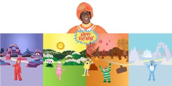Items similar to Yo Gabba Gabba Birthday Banner Digital file on Etsy