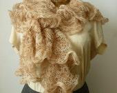 Cinnamon sugar crochet scarf - BazaarCharlotte
