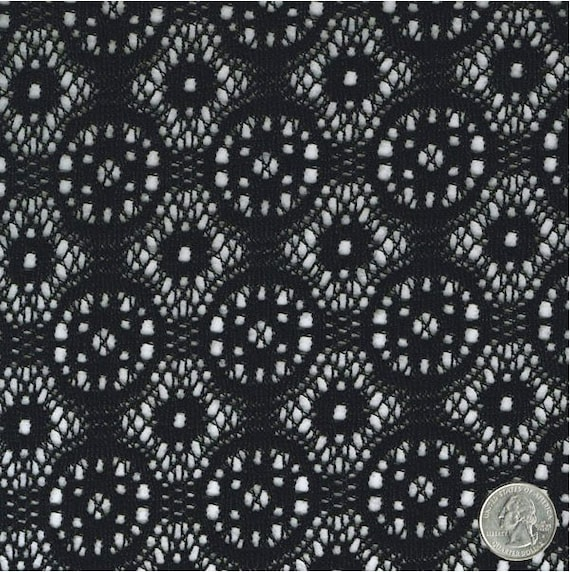 Black treasure crochet lace fabric by the yard wedding bridal table