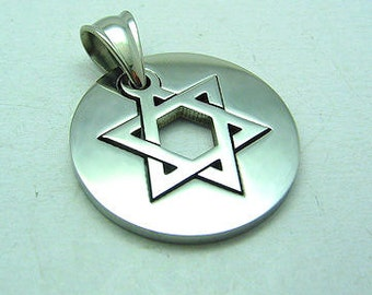 Star Of David Stainless Steel 316L Pendant Charm