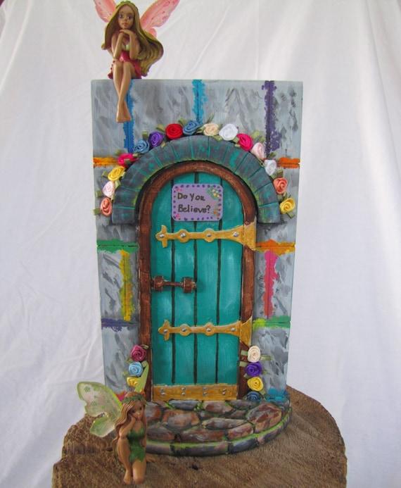 Hand painted fairy door gateway to enchantment for Fairy front door