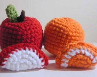 Amigurumi Apple and Orange PDF Crochet Pattern INSTANT DOWNLOAD