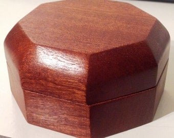 Octagonal Sapele Jewelry Box