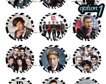 One Direction Edible Cupcake Toppers