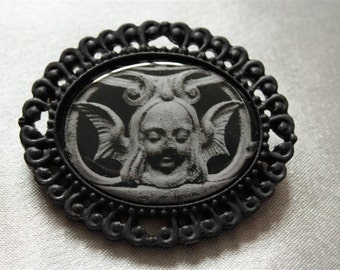 "Brooch ""Black"" collection: ANGELUS"