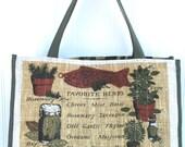 Farmers Market Bag - Herb Garden Shopping Bag