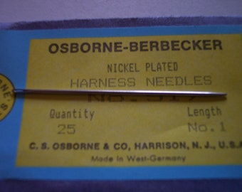 HARNESS NEEDLES  size 1 pack of 25