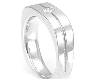 Bezel Diamond Ring, Wedding and Engagement Ring