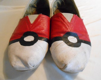 Hand Painted Pokeball Shoes