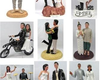 Fully Custom Sculpted Wedding Cake Topper