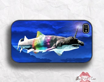 Shark-a-Corn - Unicorn Shark - iPhone 4/4S 5/5S/5C/6/6+ and now iPhone 7 cases!! And Samsung Galaxy S3/S4/S5/S6/S7