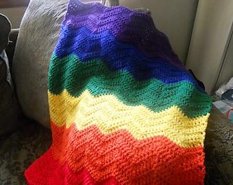Bright and Cheerful Retro Rainbow Ripple