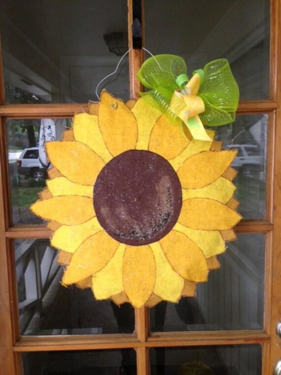 Sunflower Wreath Diy Burlap