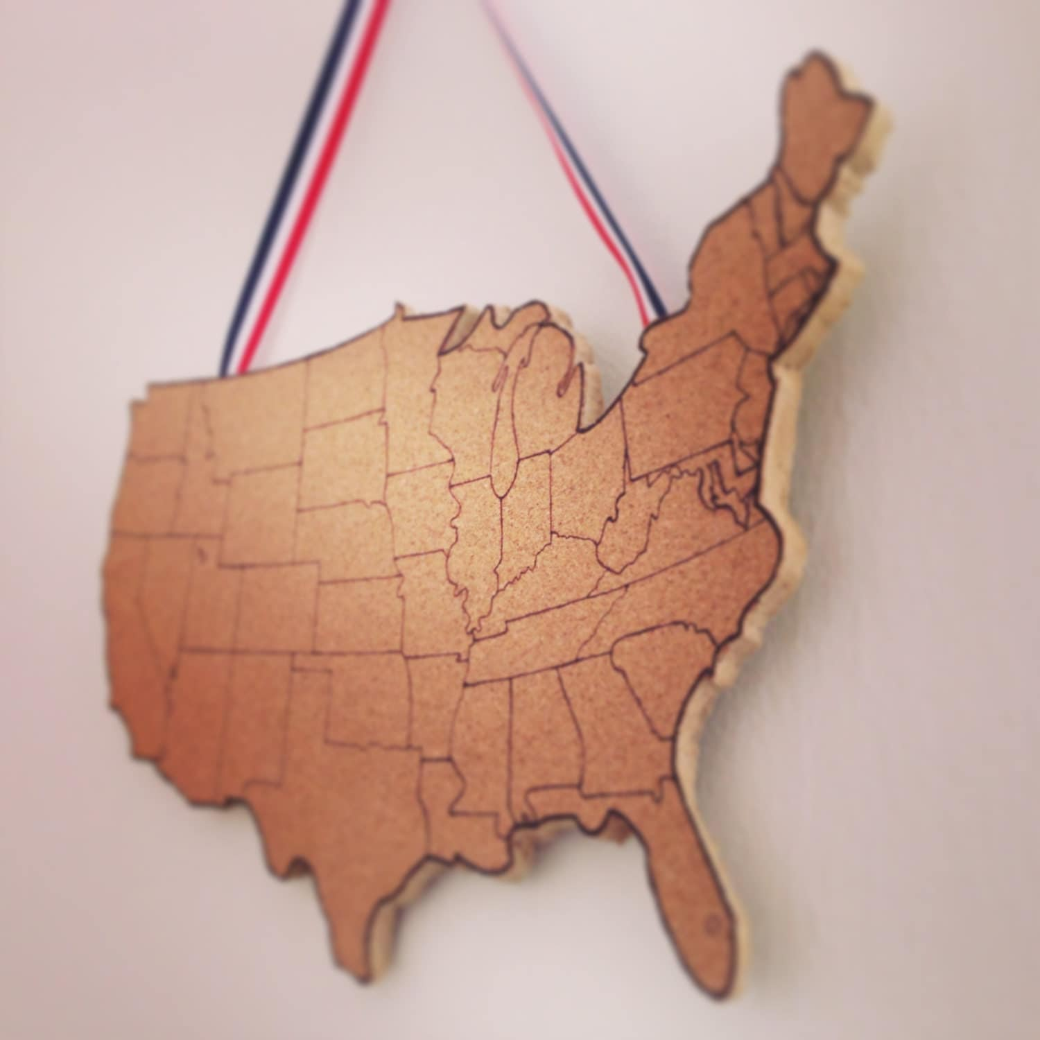 United States Corkboard Map USA Cork Map Pin Board Gifts For - Us travel map on cork board