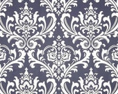 Wholesale fabric yardage blue Damask Fabric navy Premier Prints ozborne cotton twill Home Decor  - by the bolt - 27 yards!