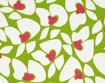 Pink Green Fabric by the Yard hot pink chartreuse lime upholstery floral Home Decor Helen Premier Prints  - 1 yard or more - SHIPS FAST