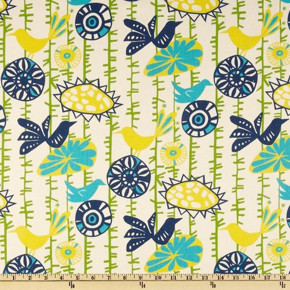 home decor fabric by the yard premier prints menagerie sunshine birds